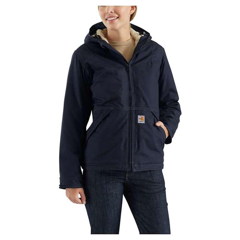 カーハート レディース ジャケット・ブルゾン アウター Carhartt Women's Flame Resistant Full Swing Quick Duck Jacket Dark Navy