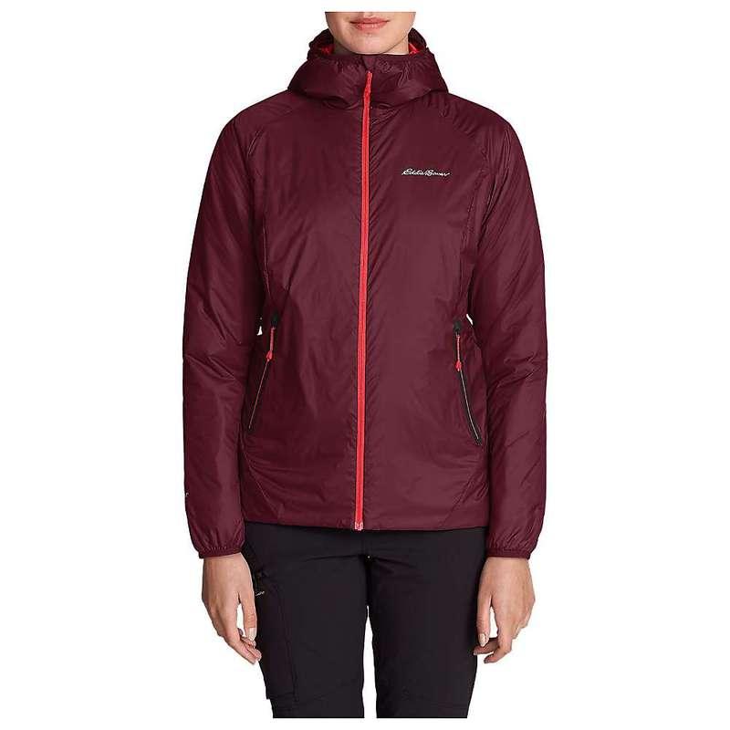 エディー バウアー レディース ジャケット・ブルゾン アウター Eddie Bauer First Ascent Women's Evertherm Down Hooded Jacket Dark Berry