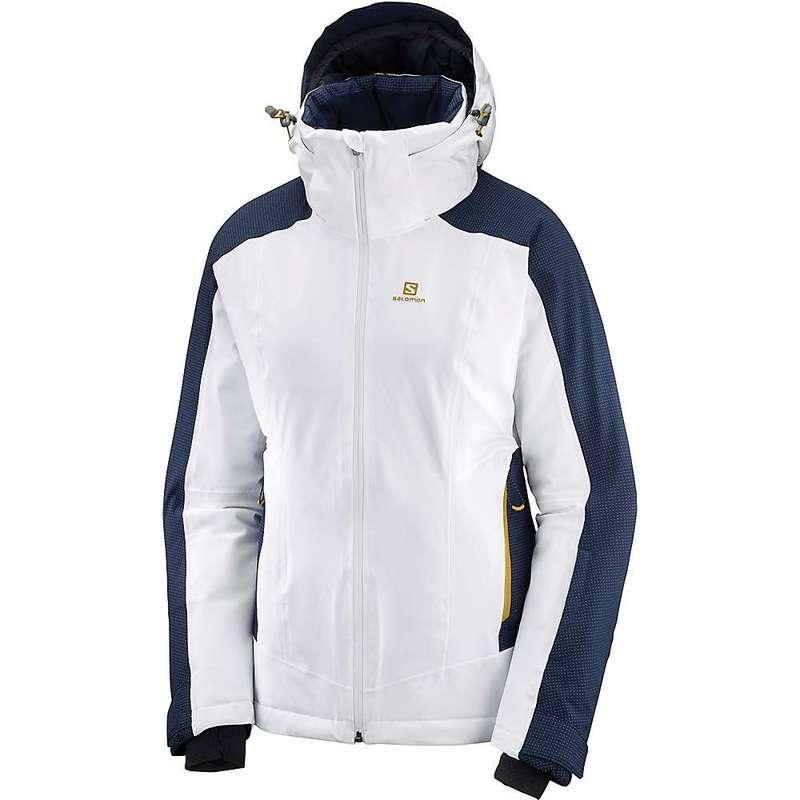 サロモン レディース ジャケット・ブルゾン アウター Salomon Women's Brilliant Jacket White / Night Sky