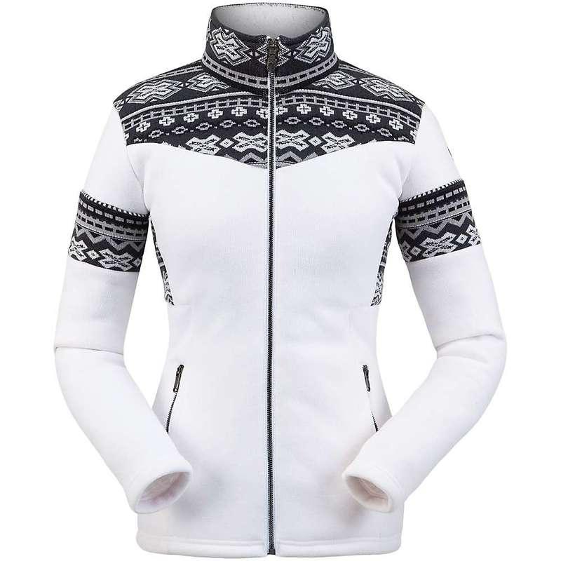 スパイダー レディース ジャケット・ブルゾン アウター Spyder Women's Bella Full Zip Fleece Jacket White