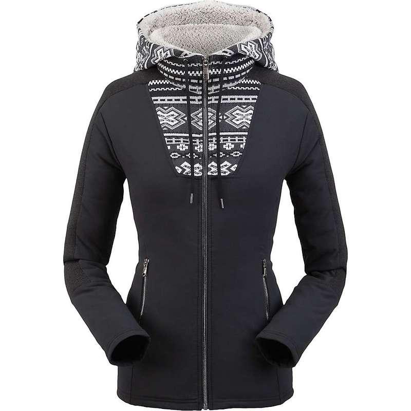 スパイダー レディース ジャケット・ブルゾン アウター Spyder Women's Soiree Hybrid Hoodie Fleece Jacket Black