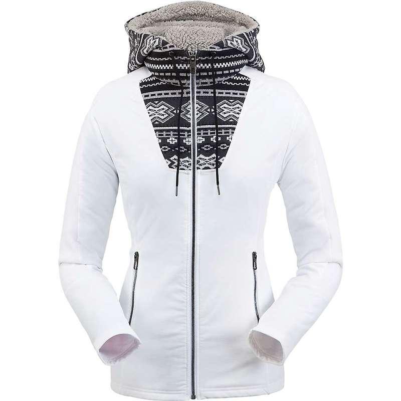 スパイダー レディース ジャケット・ブルゾン アウター Spyder Women's Soiree Hybrid Hoodie Fleece Jacket White