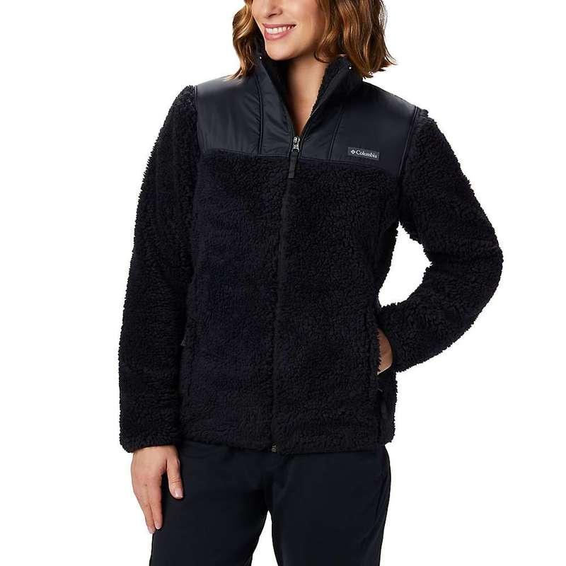 コロンビア レディース ジャケット・ブルゾン アウター Columbia Women's Winter Pass Fleece Full Zip Black