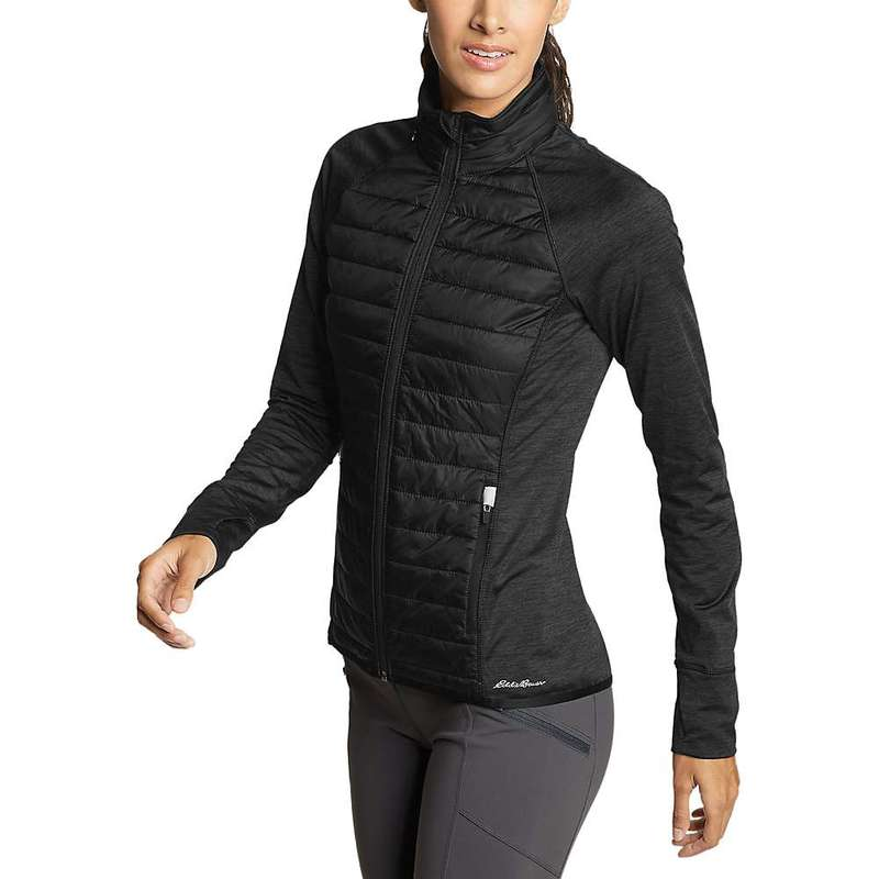 エディー バウアー レディース ジャケット・ブルゾン アウター Eddie Bauer Motion Women's Ignitelite Hybrid Jacket Black
