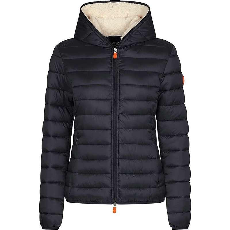 セイブ ザ ダック レディース ジャケット・ブルゾン アウター Save The Duck Women's Hooded Sherpa Jacket Black