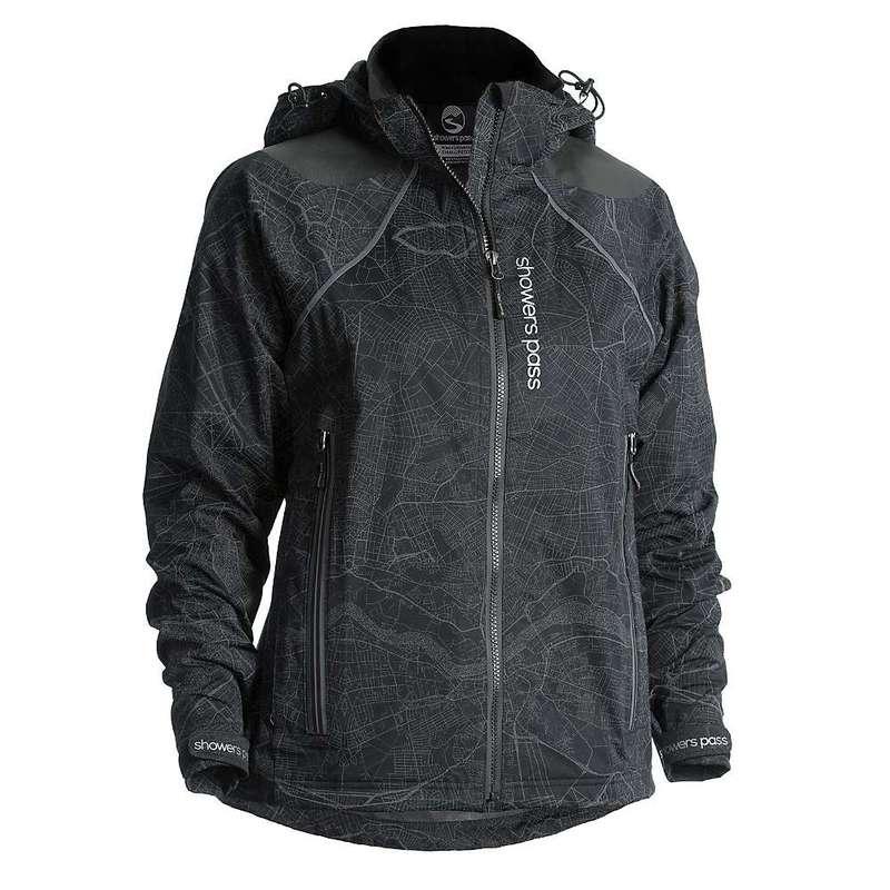 シャワーパス レディース ジャケット・ブルゾン アウター Showers Pass Women's Atlas Jacket Map Reflect Black