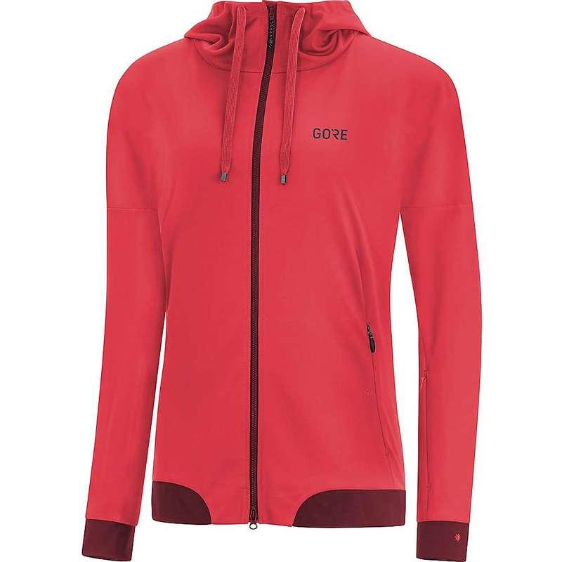 ゴアウェア レディース ジャケット・ブルゾン アウター Gore Wear Women's Gore C5 Gore Windstopper Trail Hooded Jacket Hibiscus Pink / Chestnut Red