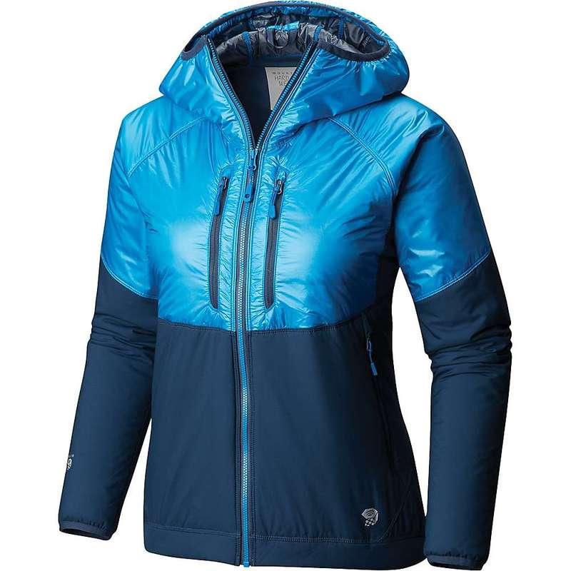 マウンテンハードウェア レディース ジャケット・ブルゾン アウター Mountain Hardwear Women's Aosta Hooded Jacket Prism Blue