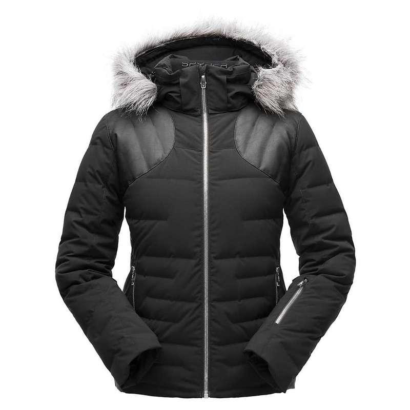 スパイダー レディース ジャケット・ブルゾン アウター Spyder Women's Falline Faux Fur Jacket Black / Black