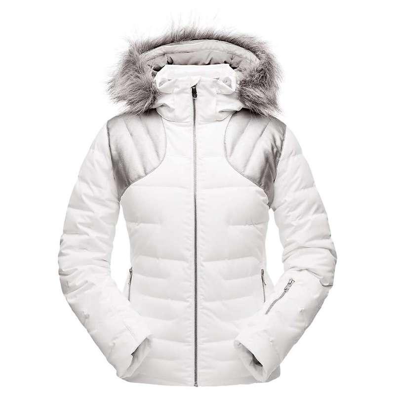 スパイダー レディース ジャケット・ブルゾン アウター Spyder Women's Falline Faux Fur Jacket White / Silver