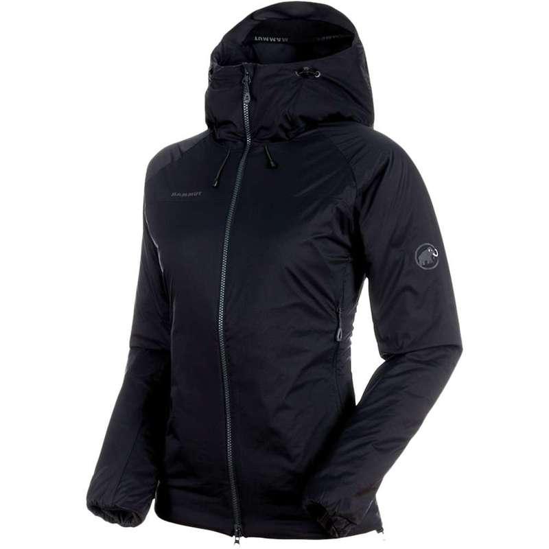 マムート レディース ジャケット・ブルゾン アウター Mammut Women's Rime IN Flex Hooded Jacket Black / Phantom