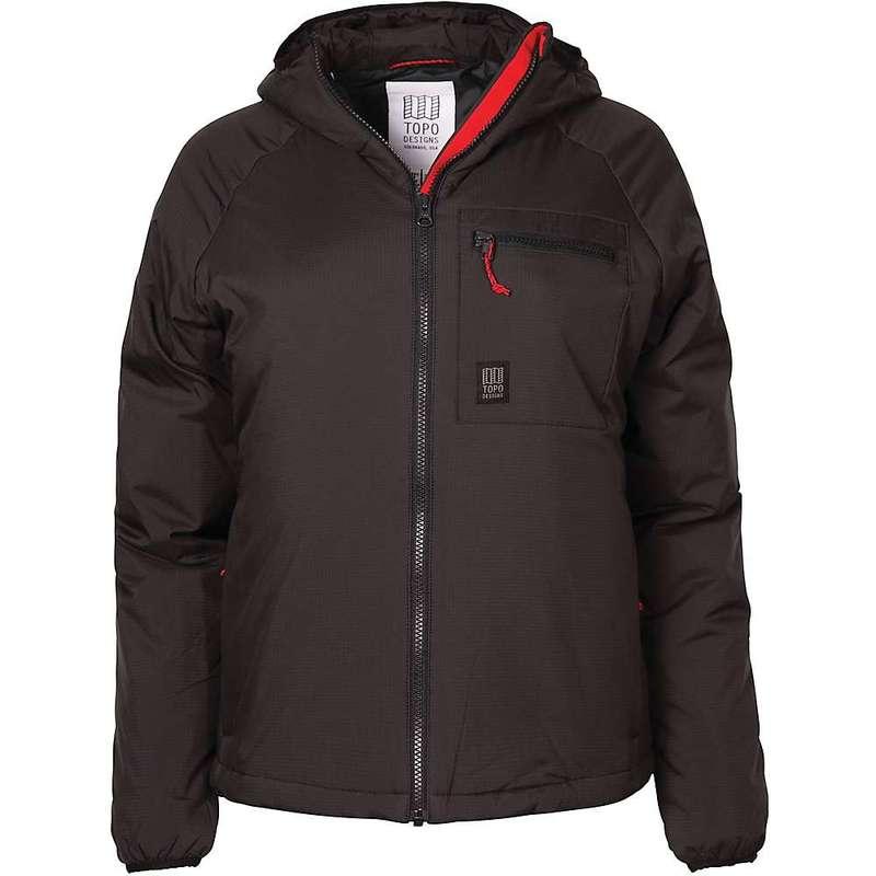 トポ・デザイン レディース ジャケット・ブルゾン アウター Topo Designs Women's Puffer Hoodie Jacket Black