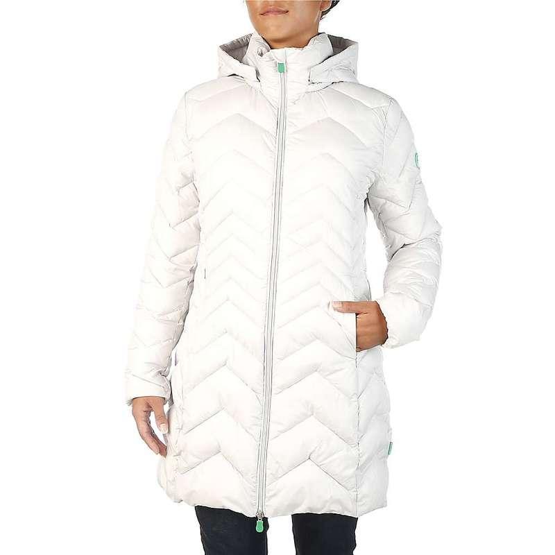セイブ ザ ダック レディース ジャケット・ブルゾン アウター Save The Duck Women's Recycled Collection Long Jacket 1184 Frozen Grey