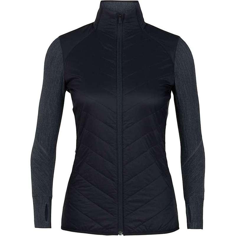 アイスブレーカー レディース ジャケット・ブルゾン アウター Icebreaker Women's Descender Hybrid Jacket Black / Jet Heather:ReVida 店