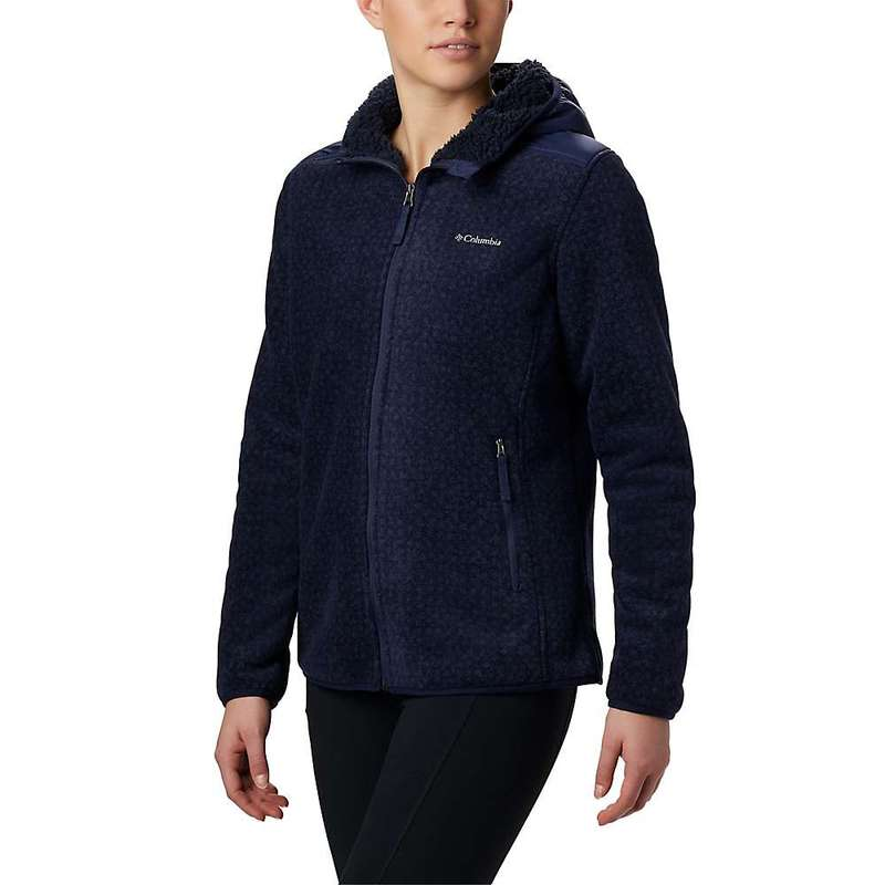 コロンビア レディース ジャケット・ブルゾン アウター Columbia Women's Winter Pass Print Fleece Full Zip Dark Nocturnal Dot Print / Nocturnal