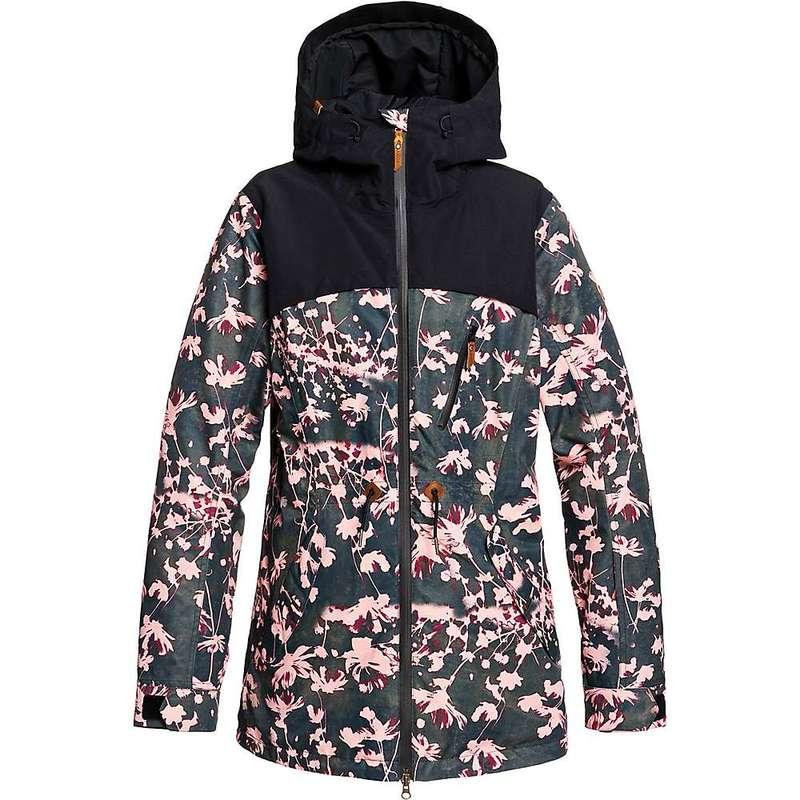 ロキシー レディース ジャケット・ブルゾン アウター Roxy Women's Stated Jacket True Black/Poppy
