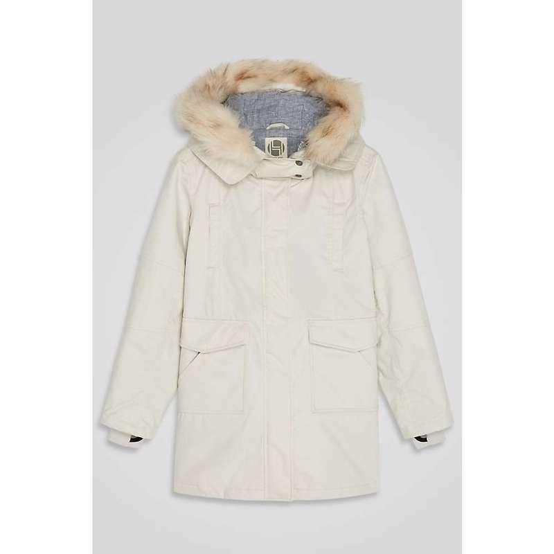 フードラム レディース ジャケット・ブルゾン アウター Hoodlamb Women's Fur Collar Parka Icy Grey