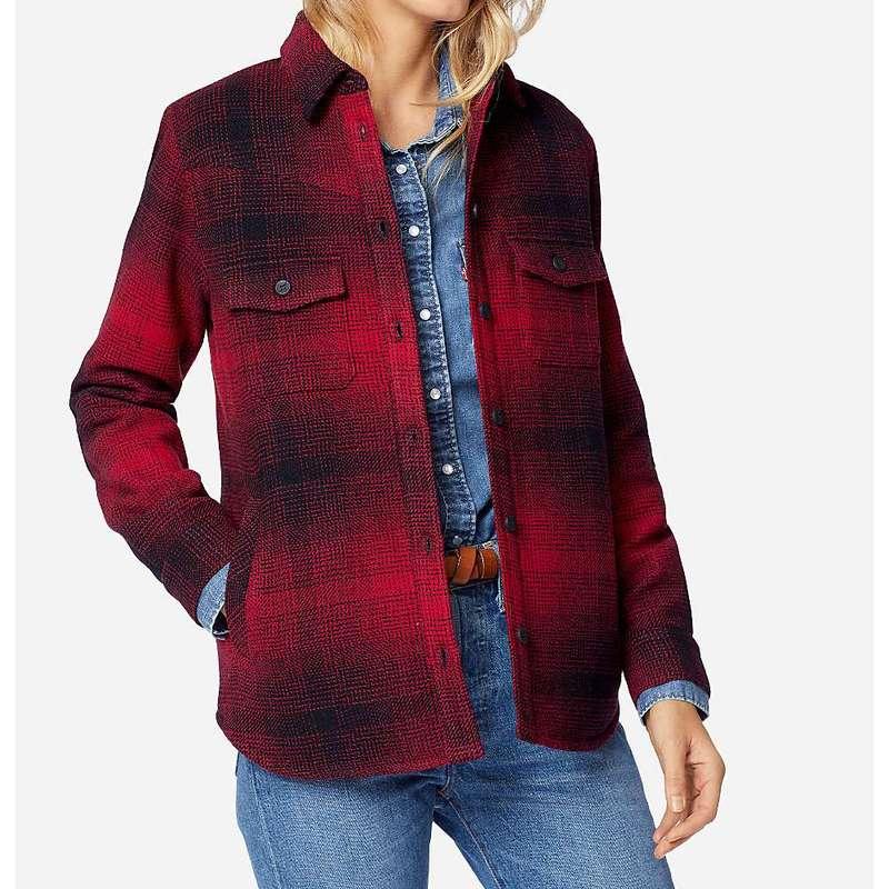 ペンドルトン レディース ジャケット・ブルゾン アウター Pendleton Women's Fremont Shirt Jacket Red/Black Ombre
