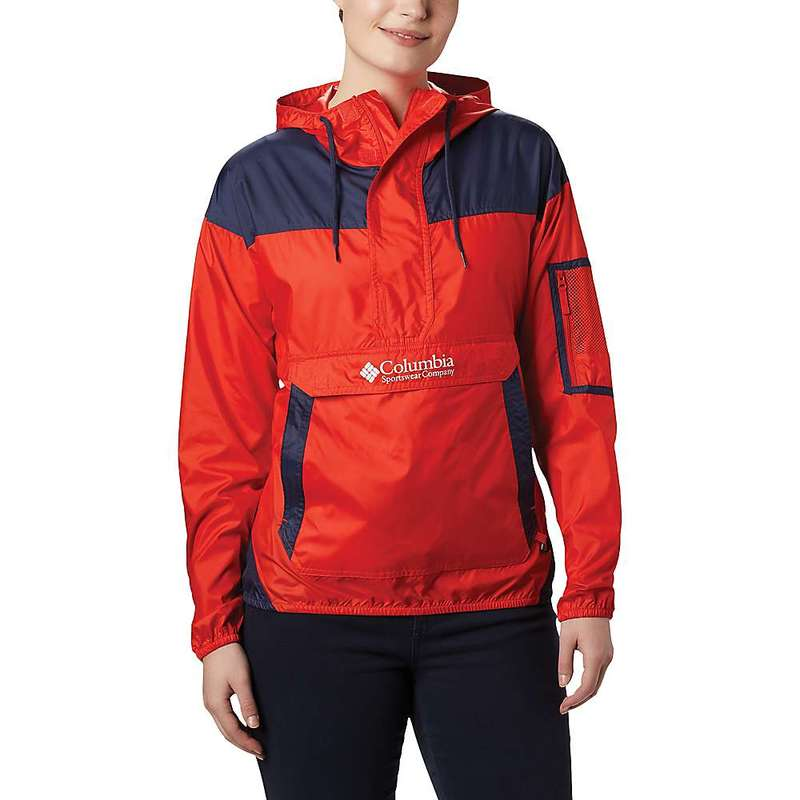 コロンビア レディース ジャケット・ブルゾン アウター Columbia Women's Challenger Windbreaker Jacket Bold Orange/Nocturnal