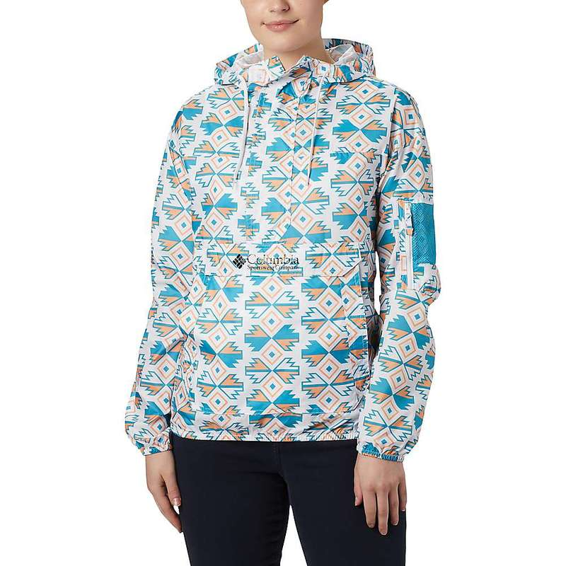 コロンビア レディース ジャケット・ブルゾン アウター Columbia Women's Challenger Windbreaker Jacket White Sw Blocks Print