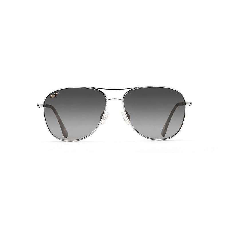 マウイジム メンズ サングラス・アイウェア アクセサリー Maui Jim Cliff House Polarized Sunglasses Silver / Neutral Grey