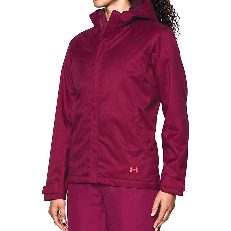 アンダーアーマー レディース ジャケット・ブルゾン アウター Under Armour Women's UA ColdGear Infrared Sienna 3-In-1 Jacket Black Currant / Raisin Red / Marathon Red