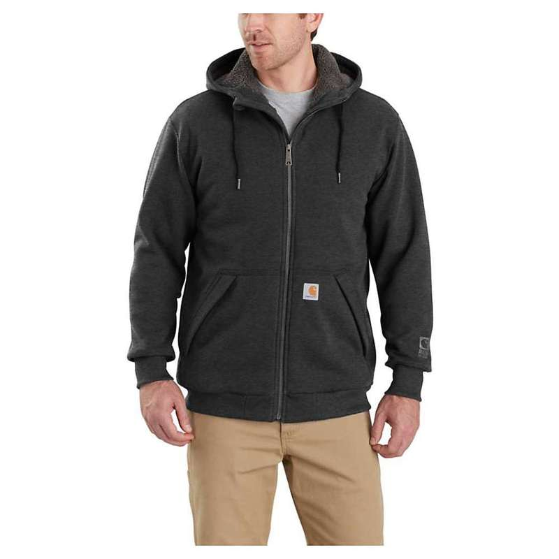 お気に入り カーハート メンズ パーカー・スウェット アウター アウター Hooded Carhartt Full-Zip Men's Rain Defender Rockland Sherpa-Lined Full-Zip Hooded Sweatshirt Carbon Heather, 冷えとり靴下のシルクパーティー:9c18b092 --- kanvasma.com