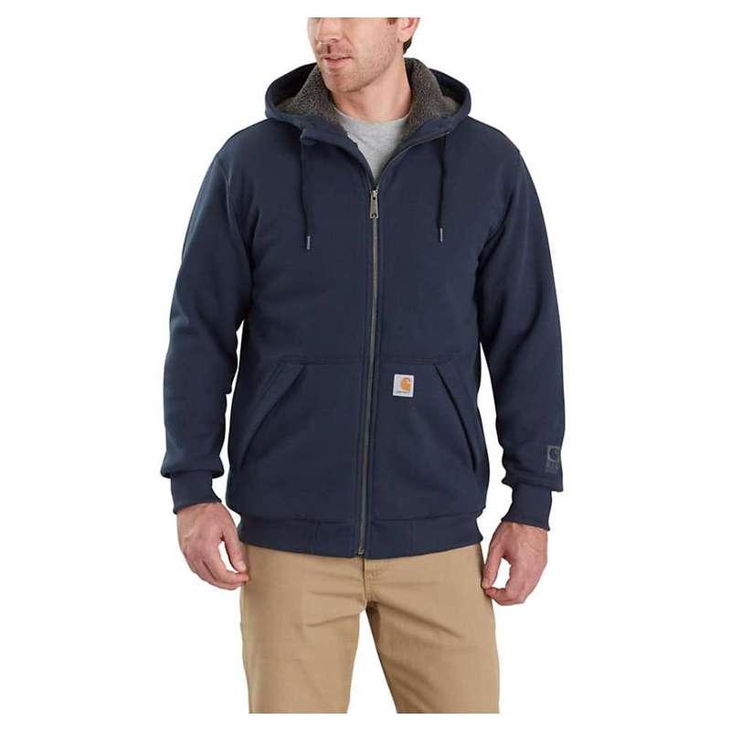 競売 カーハート メンズ パーカー・スウェット アウター Defender Carhartt Men's Rain Defender カーハート New Rockland Sherpa-Lined Full-Zip Hooded Sweatshirt New Navy, コントラストビューティー:39bd1ca1 --- kanvasma.com