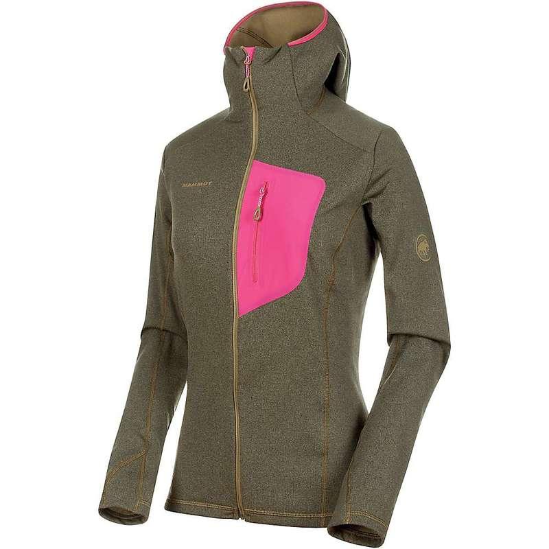 マムート レディース ジャケット・ブルゾン アウター Mammut Women's Aconcagua Light Midlayer Hooded Jacket Olive Melange / Pink