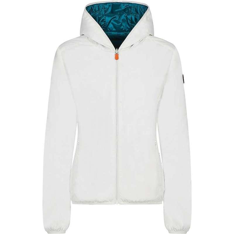 セイブ ザ ダック レディース ジャケット・ブルゾン アウター Save The Duck Womens Recycled Reversible Hooded Jacket Coconut White
