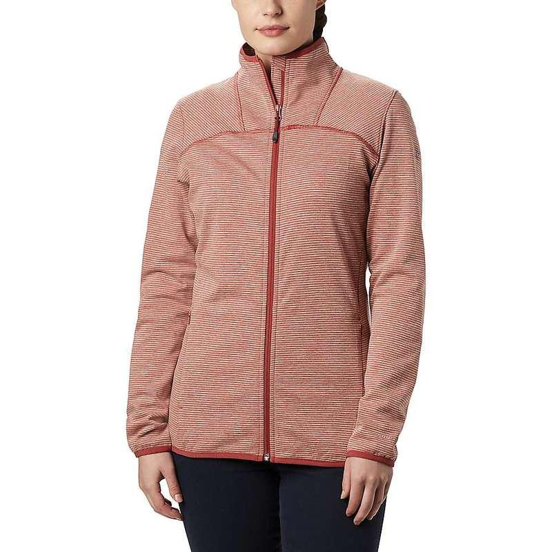 コロンビア レディース ジャケット・ブルゾン アウター Columbia Women's Firwood Camp Striped Fleece Full Zip Jacket Dusty Crimson