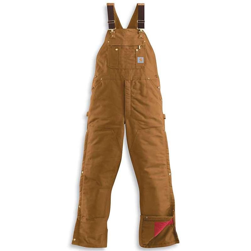 カーハート メンズ カジュアルパンツ ボトムス Carhartt Men's Quilt Lined Zip To Thigh Bib Overall Carhartt Brown
