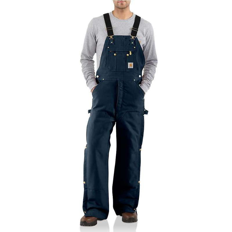 カーハート メンズ カジュアルパンツ ボトムス Carhartt Men's Quilt Lined Zip To Thigh Bib Overall Dark Navy