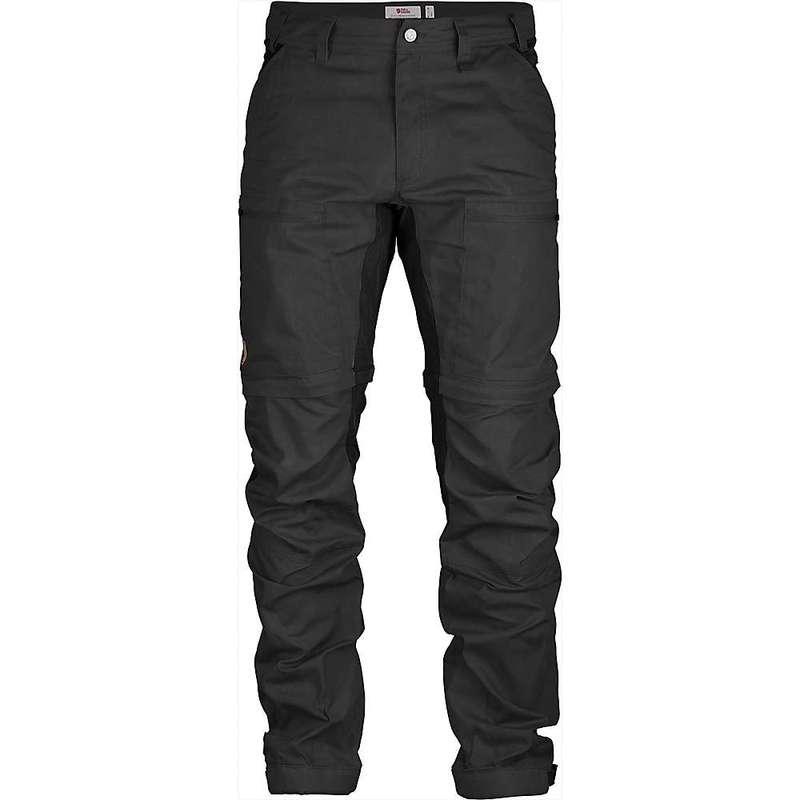 フェールラーベン メンズ カジュアルパンツ ボトムス Fjallraven Men's Abisko Lite Trekking Zip-Off Trouser Dark Grey / Black