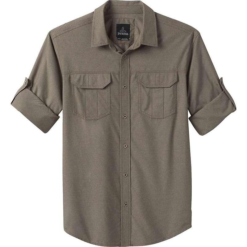 プラーナ メンズ シャツ トップス Prana Men's Citadel LS Shirt Slate Green