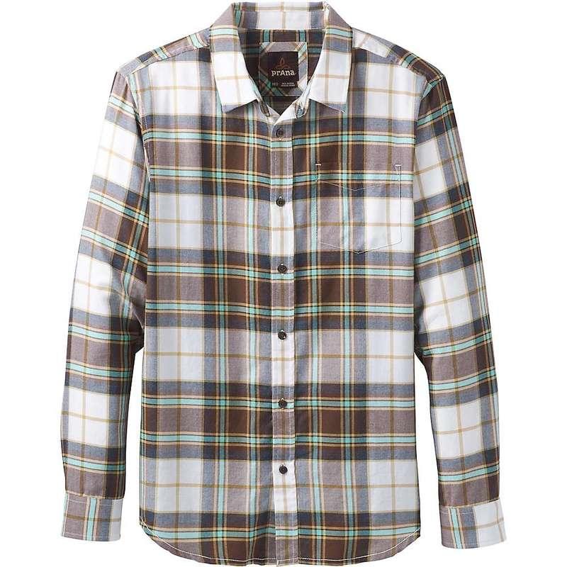 プラーナ メンズ シャツ トップス Prana Men's Shayne LS Flannel Shirt Brown Cloves