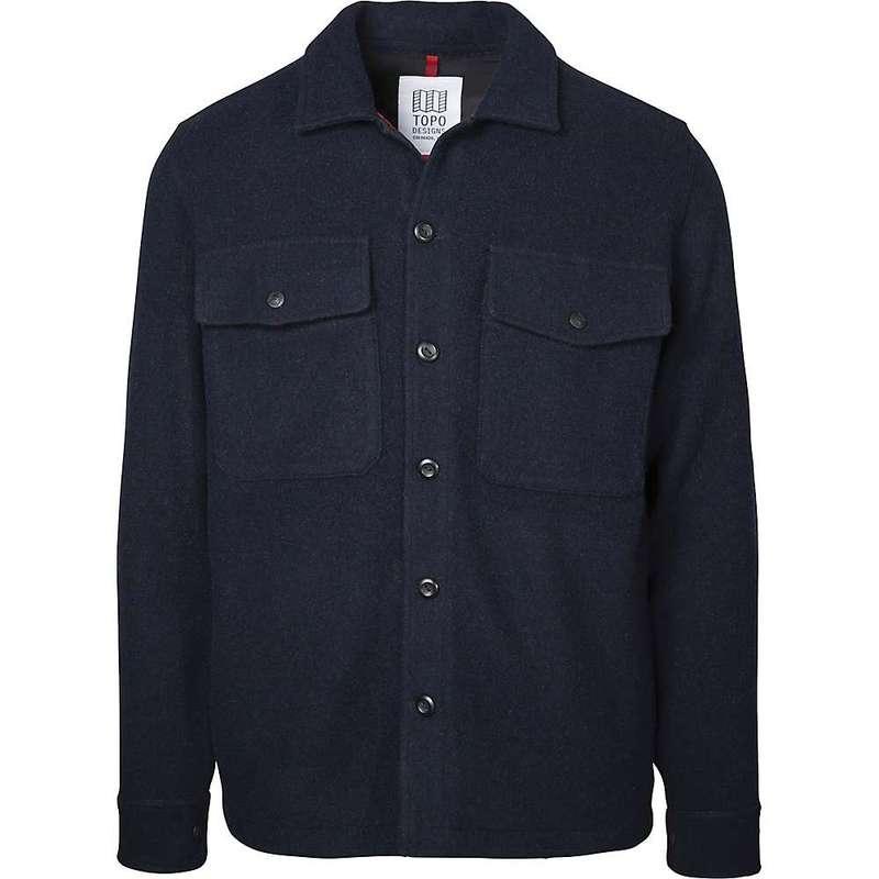 トポ・デザイン メンズ シャツ トップス Topo Designs Men's Wool Shirt Navy