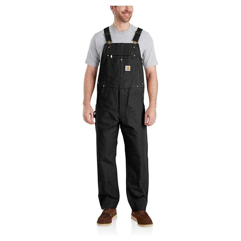 カーハート メンズ カジュアルパンツ ボトムス Carhartt Men's R01 Duck Bib Overall Black
