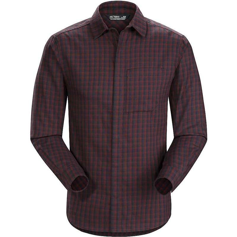 アークテリクス メンズ シャツ トップス Arcteryx Men's Bernal LS Shirt Black Baccara