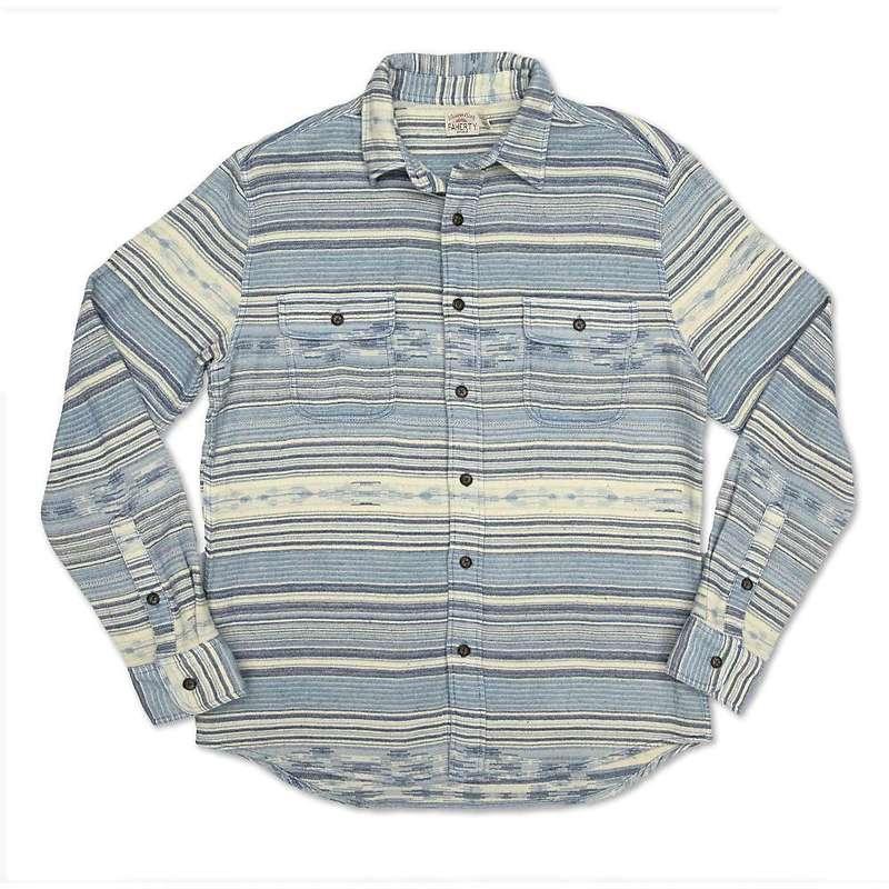 ファレティ メンズ シャツ トップス Faherty Men's Canyon Overshirt Indigo Woods Stripe