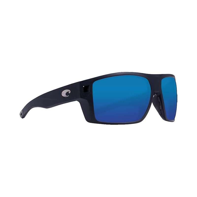 コスタデルマール メンズ サングラス・アイウェア アクセサリー Costa Del Mar Men's Diego Sunglass Matte Black/Blue Mirror 580P