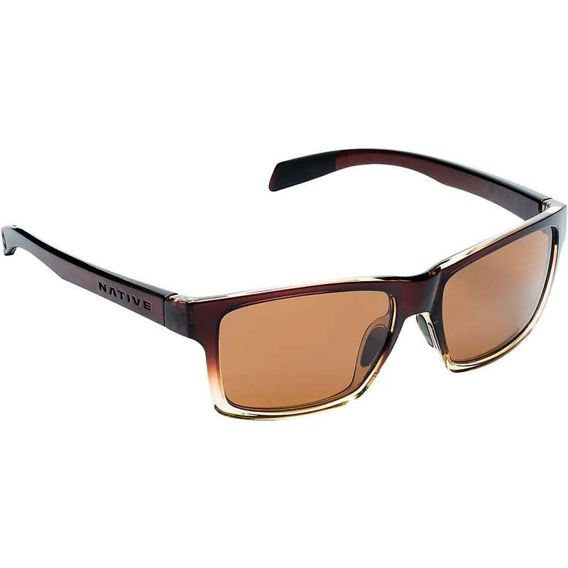 ネイティブ メンズ サングラス・アイウェア アクセサリー Native Flatirons Polarized Sunglasses Stout Fade / Brown