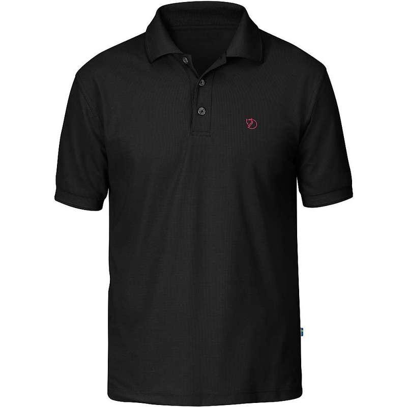 フェールラーベン メンズ シャツ トップス Fjallraven Men's Crowley Pique SS Shirt Black