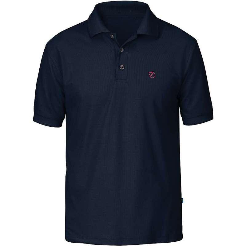 フェールラーベン メンズ シャツ トップス Fjallraven Men's Crowley Pique SS Shirt Blueblack