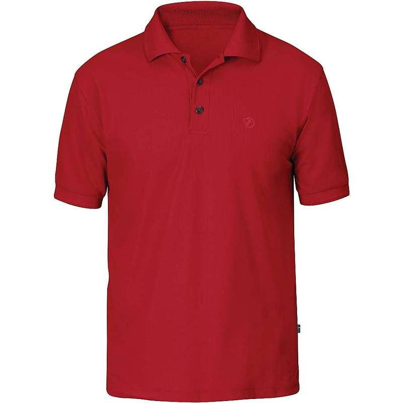 フェールラーベン メンズ シャツ トップス Fjallraven Men's Crowley Pique SS Shirt Deep Red