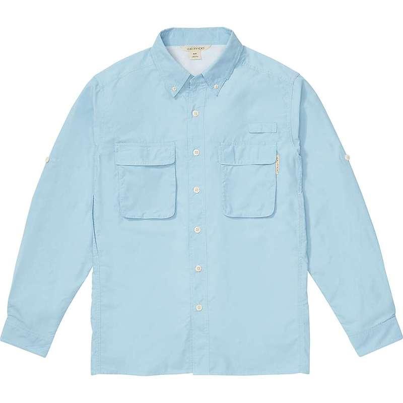 エクスオフィシオ メンズ シャツ トップス ExOfficio Men's Air Strip Long Sleeve Shirt Aleutian