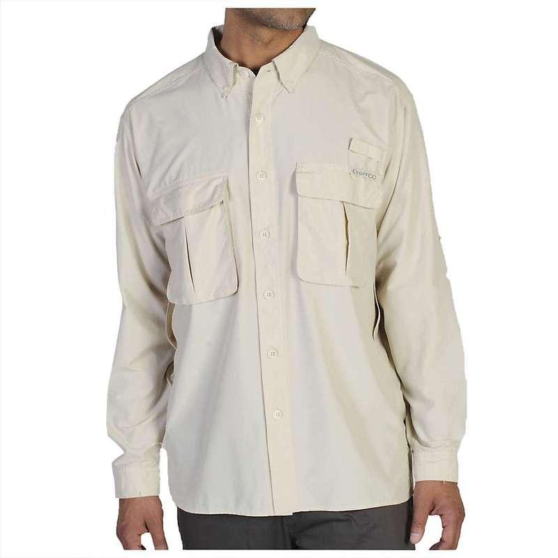 エクスオフィシオ メンズ シャツ トップス ExOfficio Men's Air Strip Long Sleeve Shirt Bone