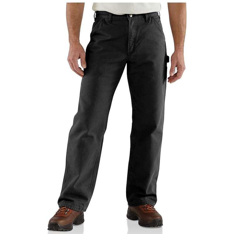 カーハート メンズ カジュアルパンツ ボトムス Carhartt Men's Washed Duck Work Dungaree Flannel Lined Pant Black