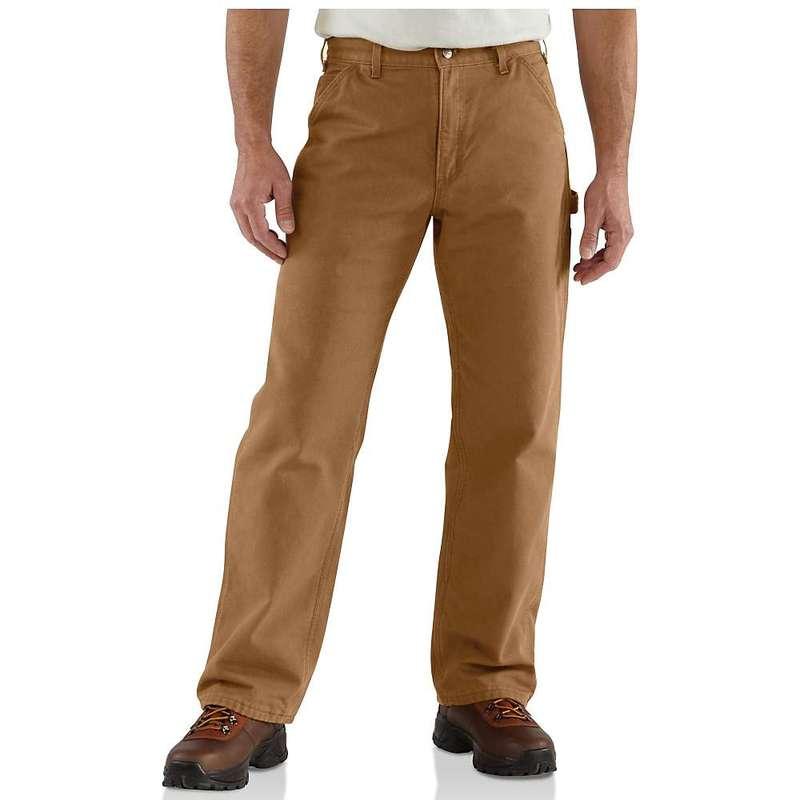 カーハート メンズ カジュアルパンツ ボトムス Carhartt Men's Washed Duck Work Dungaree Flannel Lined Pant Carhartt Brown