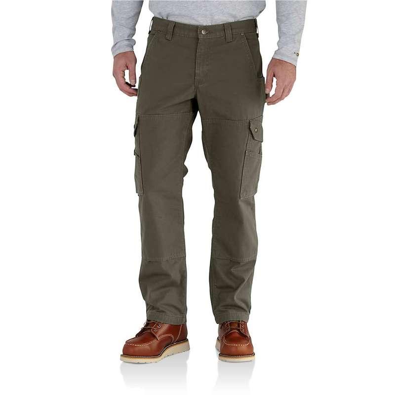 カーハート メンズ カジュアルパンツ ボトムス Carhartt Men's Ripstop Cargo work Flannel Lined Pant Moss